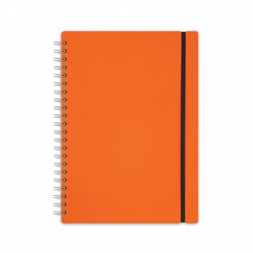 Recycled Leather - Ruled Notebook - Orange